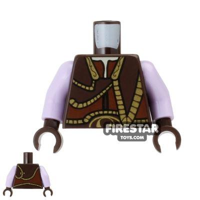 LEGO Mini Figure Torso - Gungan Vest - Gold Trim