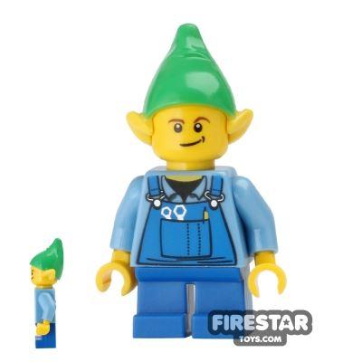LEGO Holiday Mini Figure - Elf - Blue Overalls