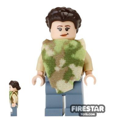 LEGO Star Wars Mini Figure - Princess Leia - Camouflage Cape