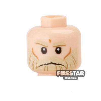 LEGO Mini Figure Heads - Tan Beard - Frown