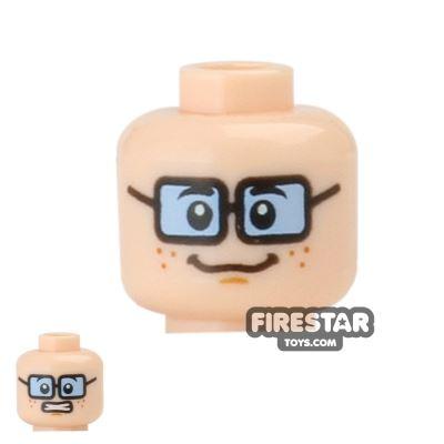 LEGO Mini Figure Heads - Velma - Blue Tinted Glasses