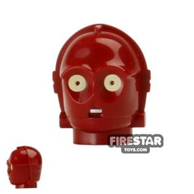 LEGO Mini Figure Heads - TC-4 Protocol Droid