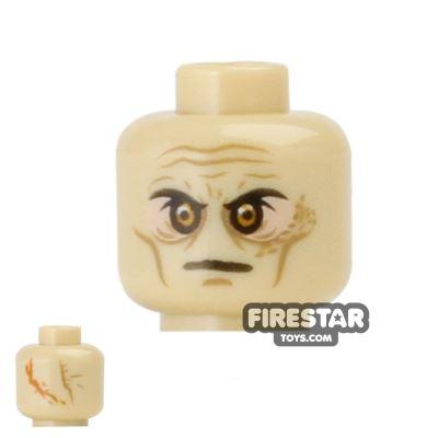 LEGO Mini Figure Heads - Darth Vader - Tan