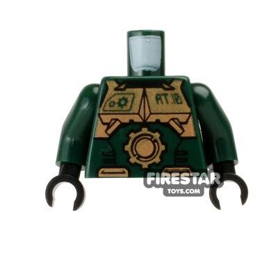 LEGO Mini Figure Torso - Exo-Force - Gold Body Armour