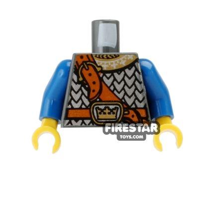 LEGO Mini Figure Torso - Crown Knight Scale Mail