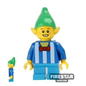 LEGO Holiday Mini Figure - Elf - Striped Top and Bow Tie