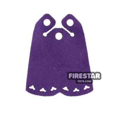 LEGO Cape - Long Cape - Heart Shaped Holes - Dark Purple