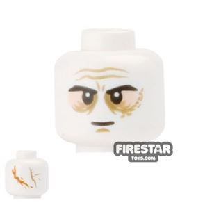 LEGO Mini Figure Heads - Darth Vader - White with Scars