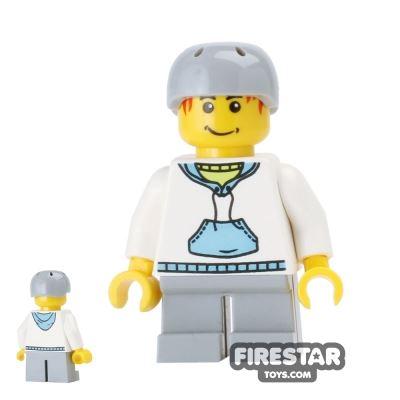 LEGO City Mini Figure - Boy - Hoodie and Crash Helmet