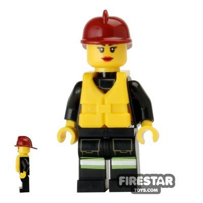 LEGO City Mini Figure – Fire - Life Jacket 7