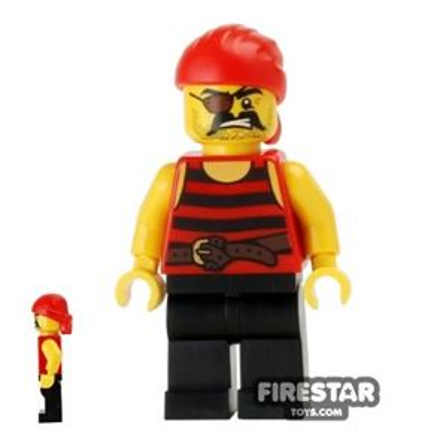 LEGO Pirate Mini Figure - Pirate 1 - Eyepatch