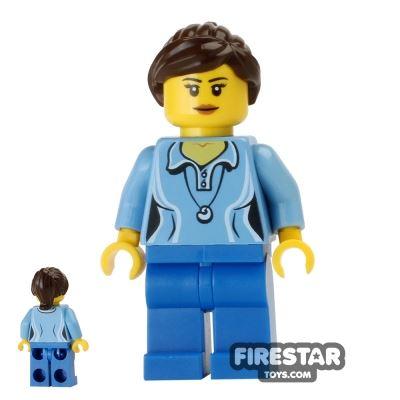LEGO City Mini Figure - Blue Blouse