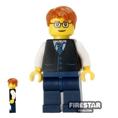 LEGO City Mini Figure - Waistcoat and Glasses