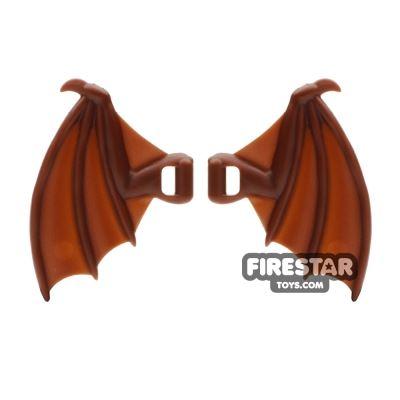 BrickWarriors - Dragon Wings - Brown
