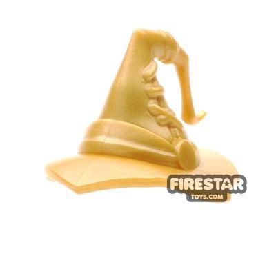BrickWarriors - Wizard Hat - Pearl Gold