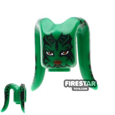 Arealight Mini Figure Heads - Green - Tattoo Pattern
