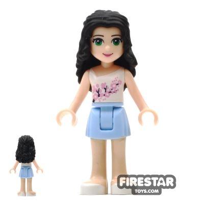 LEGO Friends Mini Figure - Emma - Bright Light Blue Skirt