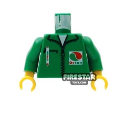 LEGO Mini Figure Torso - Octan Jacket - Green