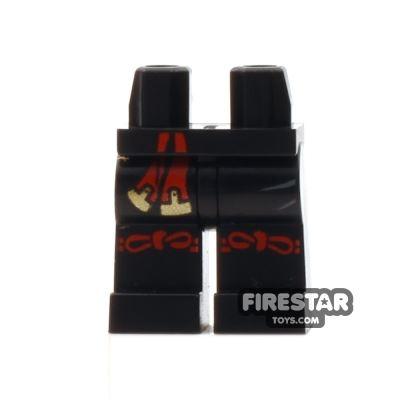 LEGO Mini Figure Legs - Ninjago - Black with Knee Straps