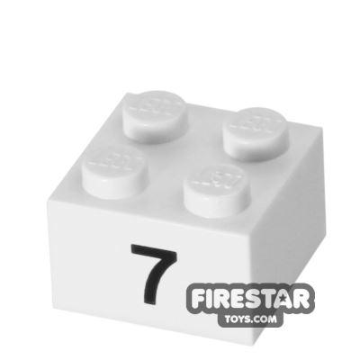 Printed Brick 2x2 - Number 7
