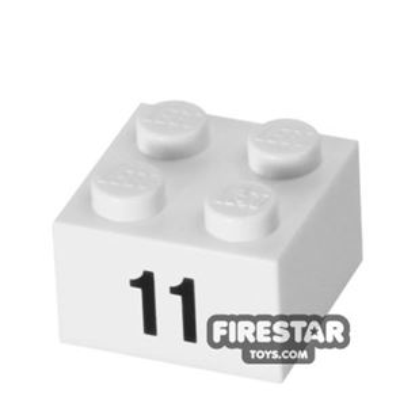 Printed Brick 2x2 - Number 11