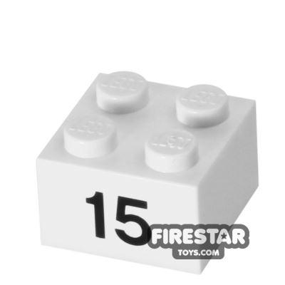 Printed Brick 2x2 - Number 15