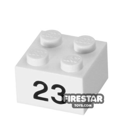 Printed Brick 2x2 - Number 23