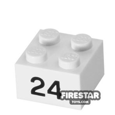 Printed Brick 2x2 - Number 24