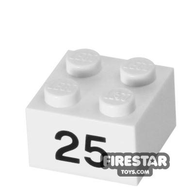 Printed Brick 2x2 - Number 25