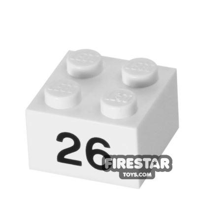 Printed Brick 2x2 - Number 26