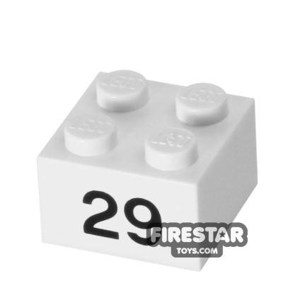 Printed Brick 2x2 - Number 29