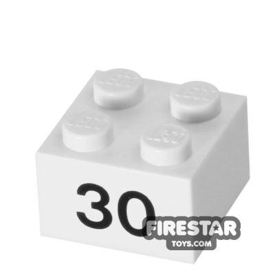Printed Brick 2x2 - Number 30