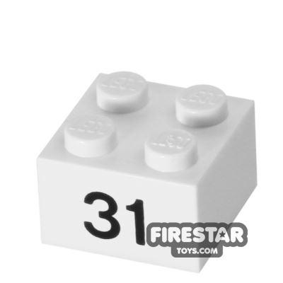 Printed Brick 2x2 - Number 31