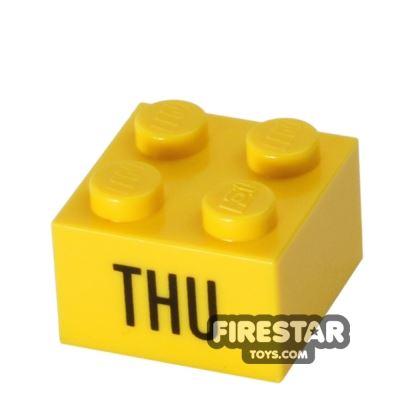 Printed Brick 2x2 - Calendar Brick - Thu