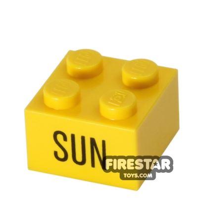 Printed Brick 2x2 - Calendar Brick - Sun