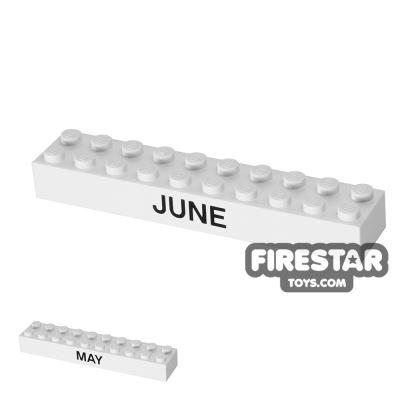 Printed Brick 2x10 - Calendar Brick - May/June