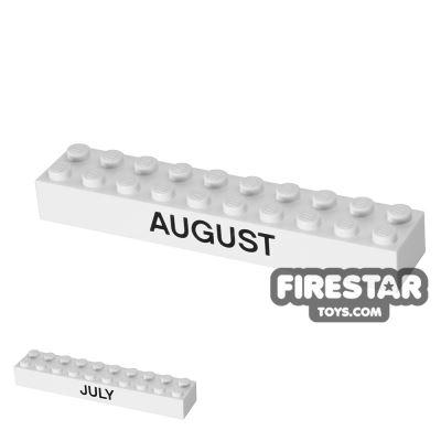 Printed Brick 2x10 - Calendar Brick - July/August