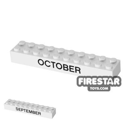 Printed Brick 2x10 - Calendar Brick - September/October