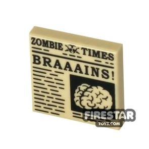Printed Tile 2x2 - Zombie Times
