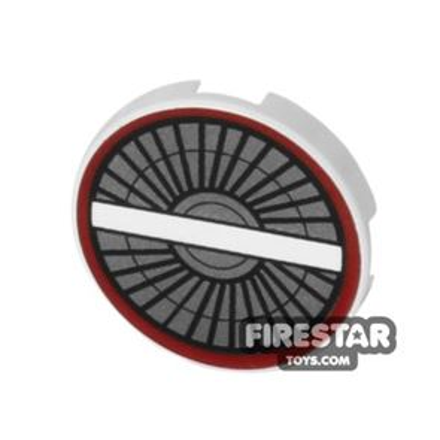 Printed Round Tile 2x2 - Starfighter Engine