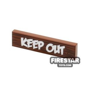 Printed Tile 1x4 - Keep Out