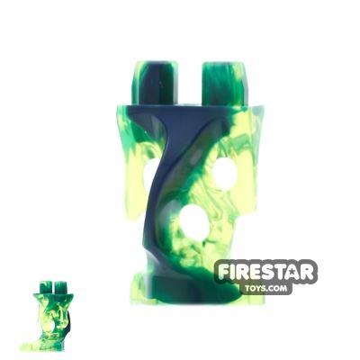 LEGO Mini Figure Legs - Ghost - Trans Dark Blue and Neon Green