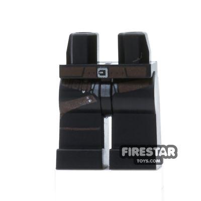 LEGO Mini Figure Legs - Black with Gunbelt