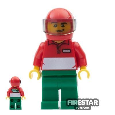LEGO City Mini Figure - City Square Pizza Delivery Man