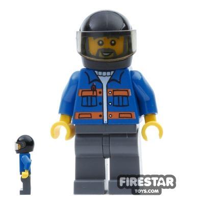LEGO City Mini Figure - Blue Jacket and Helmet