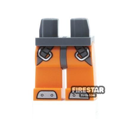 LEGO Mini Figure Legs - Orange Diving Suit