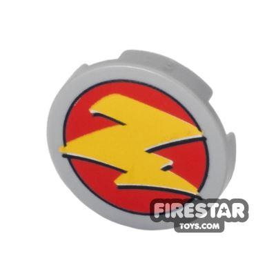 Printed Round Tile 2x2 - Zurg Logo