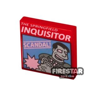 Printed Tile 2x2 - The Springfield Inquisitor Newspaper