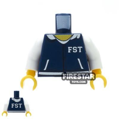 Custom Design Torso - FST Varsity Hoodie - Dark Blue