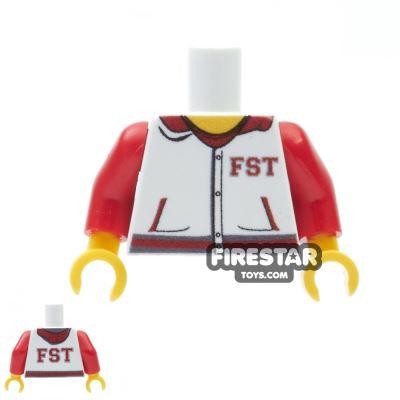 Custom Design Torso - FST Varsity Hoodie - White and Red